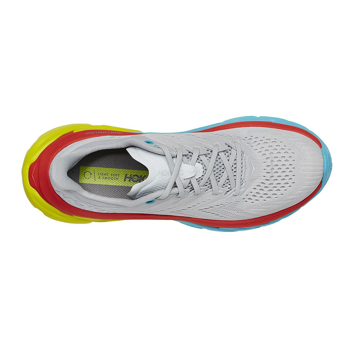 Men's Hoka One One Clifton Edge Running Shoe - Color: Lunar Rock/White - Size: 8.5 - Width: Regular, Lunar Rock/White, large, image 3
