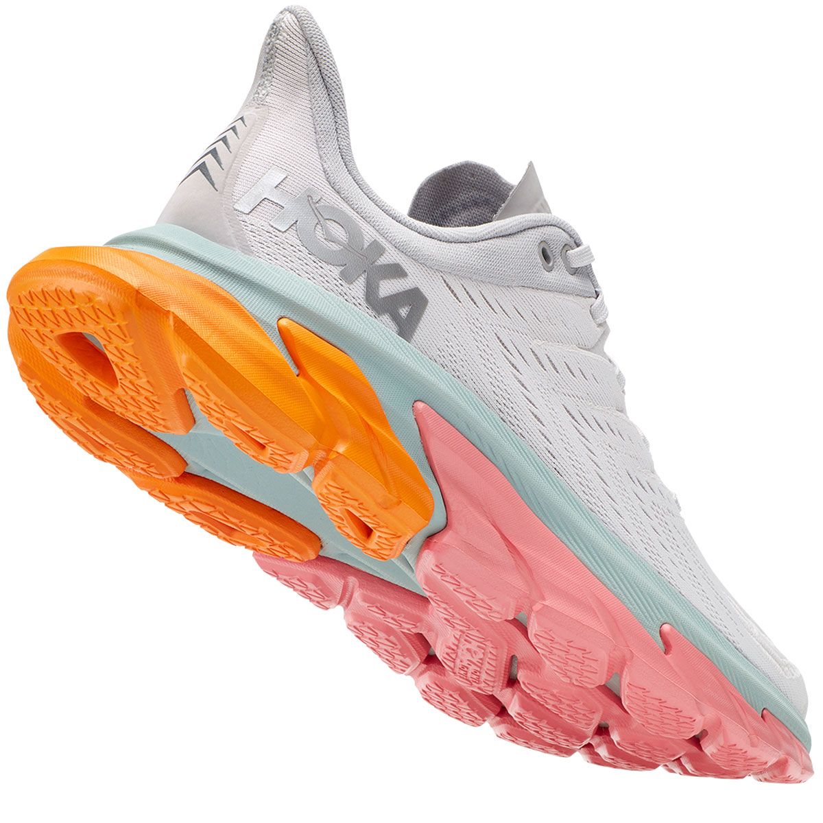Men's Hoka One One Clifton Edge Running Shoe - Color: Nimbus Cloud/Lunar Rock - Size: 7 - Width: Regular, Nimbus Cloud/Lunar Rock, large, image 5