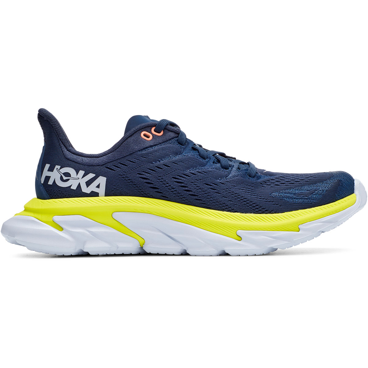 Women's Hoka One One Clifton Edge Running Shoe - Color: Moonlit Ocean/Evening Primrose - Size: 5 - Width: Regular, Moonlit Ocean/Evening Primrose, large, image 1