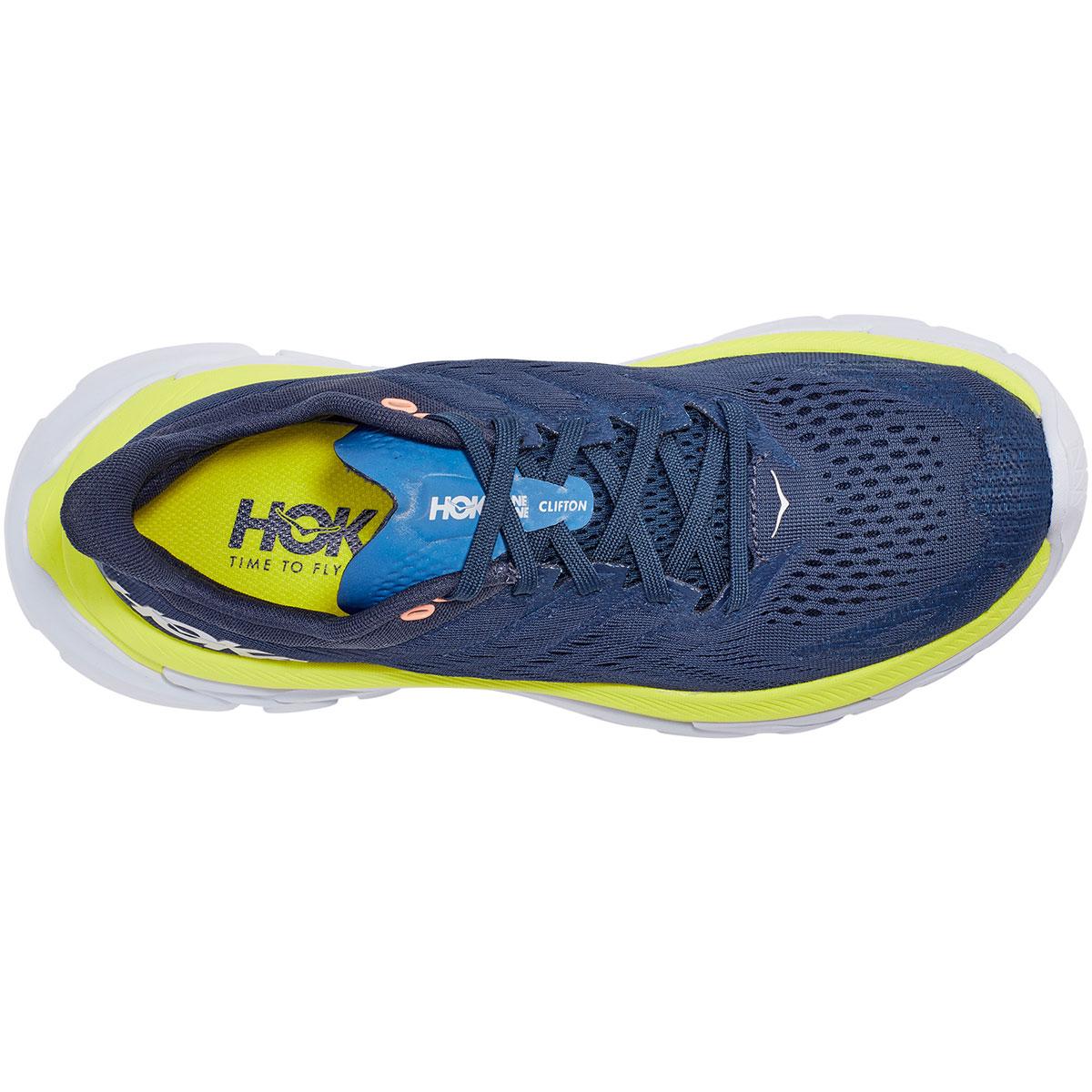 Women's Hoka One One Clifton Edge Running Shoe - Color: Moonlit Ocean/Evening Primrose - Size: 5 - Width: Regular, Moonlit Ocean/Evening Primrose, large, image 2