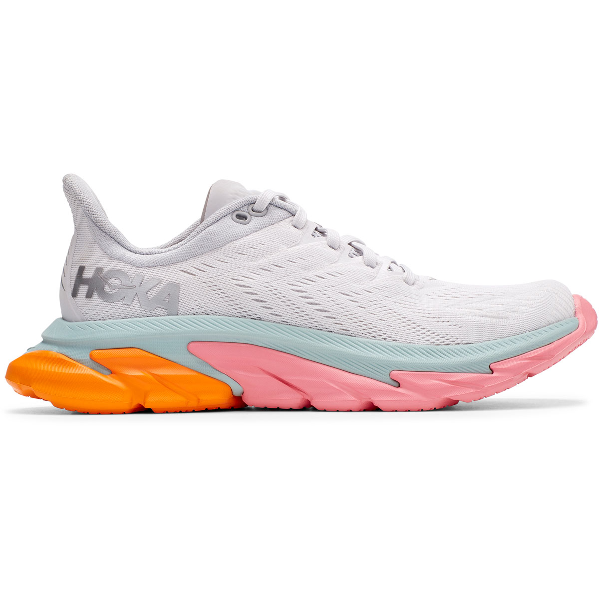 Women's Hoka One One Clifton Edge Running Shoe - Color: Nimbus Cloud/Lunar Rock - Size: 5 - Width: Regular, Nimbus Cloud/Lunar Rock, large, image 1