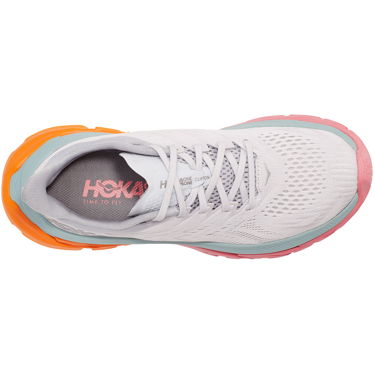 Women's Hoka One One Clifton Edge Running Shoe - Color: Nimbus Cloud/Lunar Rock - Size: 5 - Width: Regular, Nimbus Cloud/Lunar Rock, large, image 2