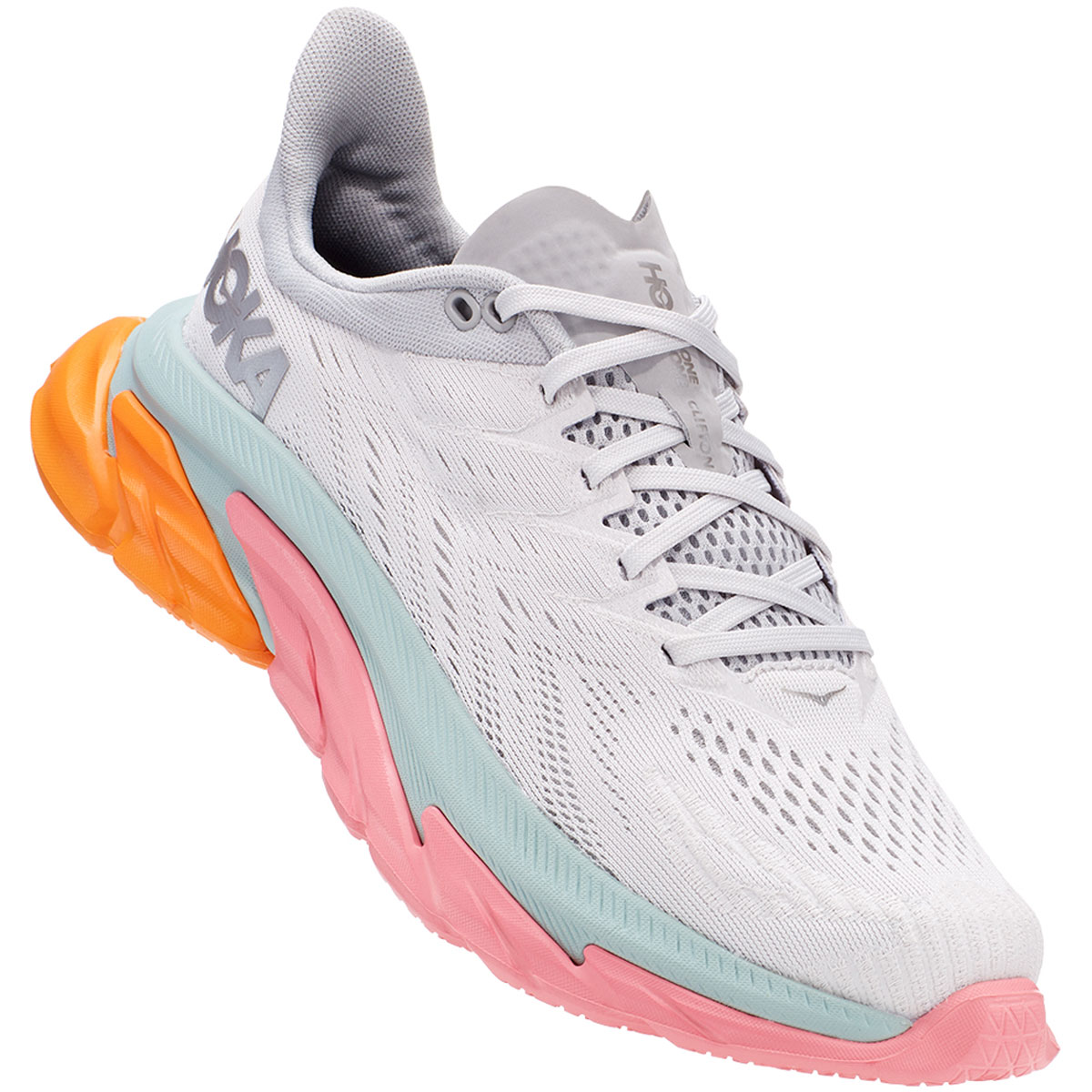 Women's Hoka One One Clifton Edge Running Shoe - Color: Nimbus Cloud/Lunar Rock - Size: 5 - Width: Regular, Nimbus Cloud/Lunar Rock, large, image 4