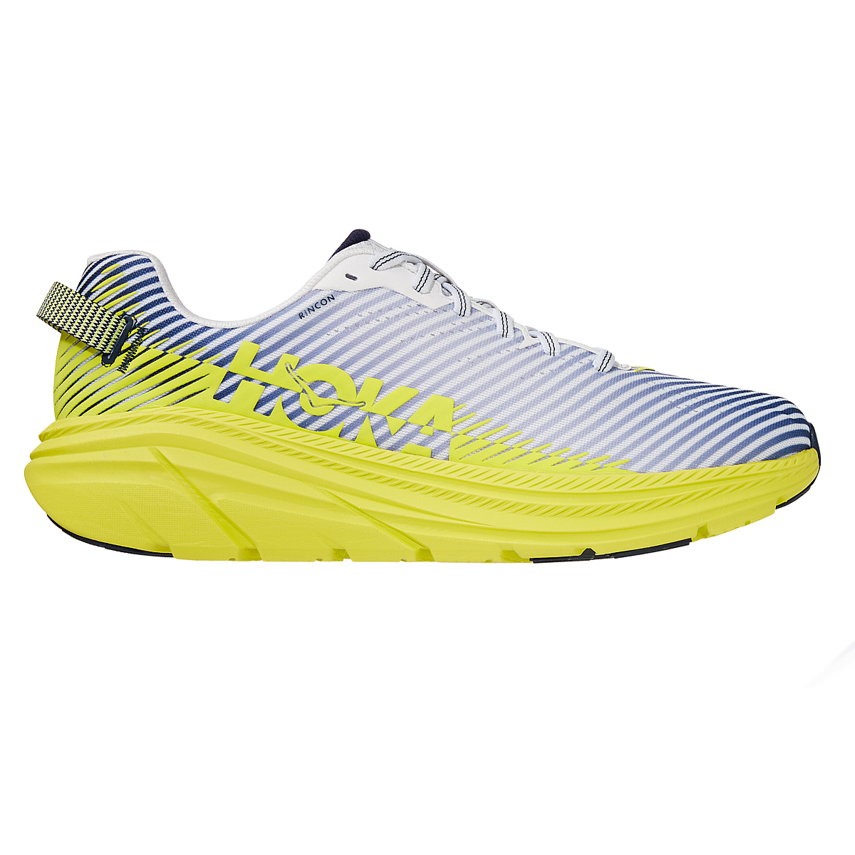Men's Hoka One One Rincon 2 Running Shoe - Color: White/Yellow - Size: 7 - Width: Regular, White/Yellow, large, image 1
