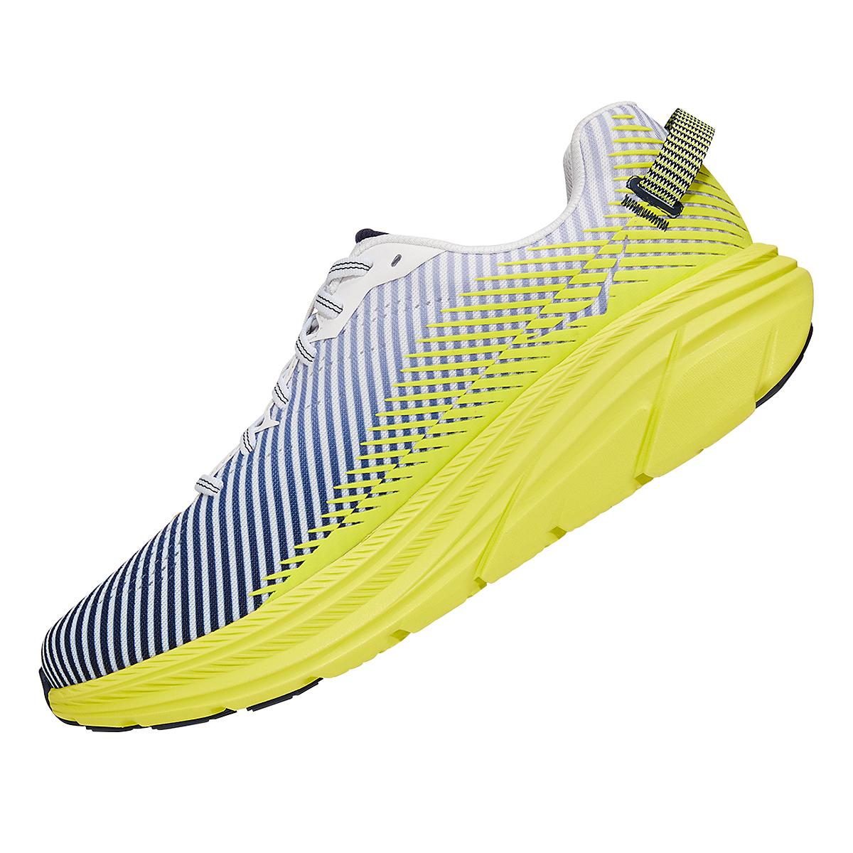 Men's Hoka One One Rincon 2 Running Shoe - Color: White/Yellow - Size: 7 - Width: Regular, White/Yellow, large, image 2