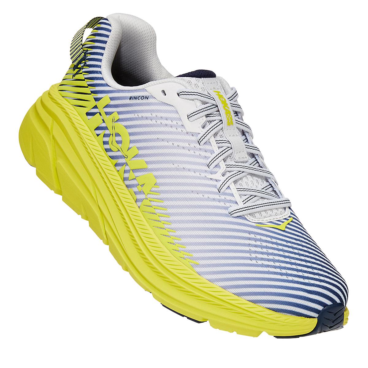 Men's Hoka One One Rincon 2 Running Shoe - Color: White/Yellow - Size: 7 - Width: Regular, White/Yellow, large, image 5