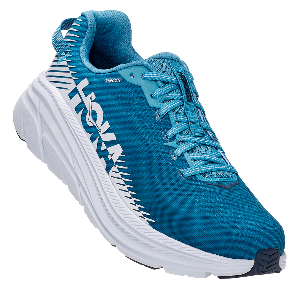 Men's Hoka One One Rincon 2 Running Shoe - Color: Blue Moon/White - Size: 7 - Width: Regular, Blue Moon/White, large, image 4