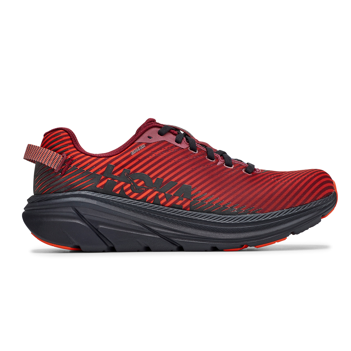 Men's Hoka One One Rincon 2 Running Shoe - Color: Cordovan/Anthracite - Size: 7 - Width: Regular, Cordovan/Anthracite, large, image 1
