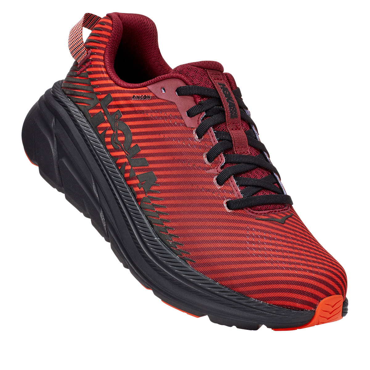 Men's Hoka One One Rincon 2 Running Shoe - Color: Cordovan/Anthracite - Size: 7 - Width: Regular, Cordovan/Anthracite, large, image 4