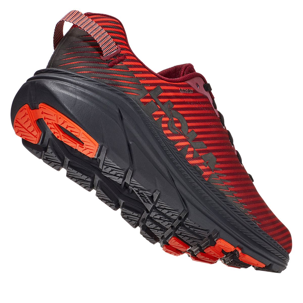 Men's Hoka One One Rincon 2 Running Shoe - Color: Cordovan/Anthracite - Size: 7 - Width: Regular, Cordovan/Anthracite, large, image 5