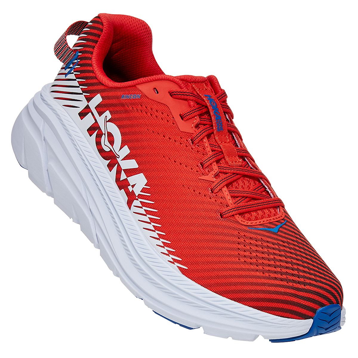 Men's Hoka One One Rincon 2 Running Shoe - Color: Fiesta/Turkish White - Size: 7 - Width: Regular, Fiesta/Turkish White, large, image 3