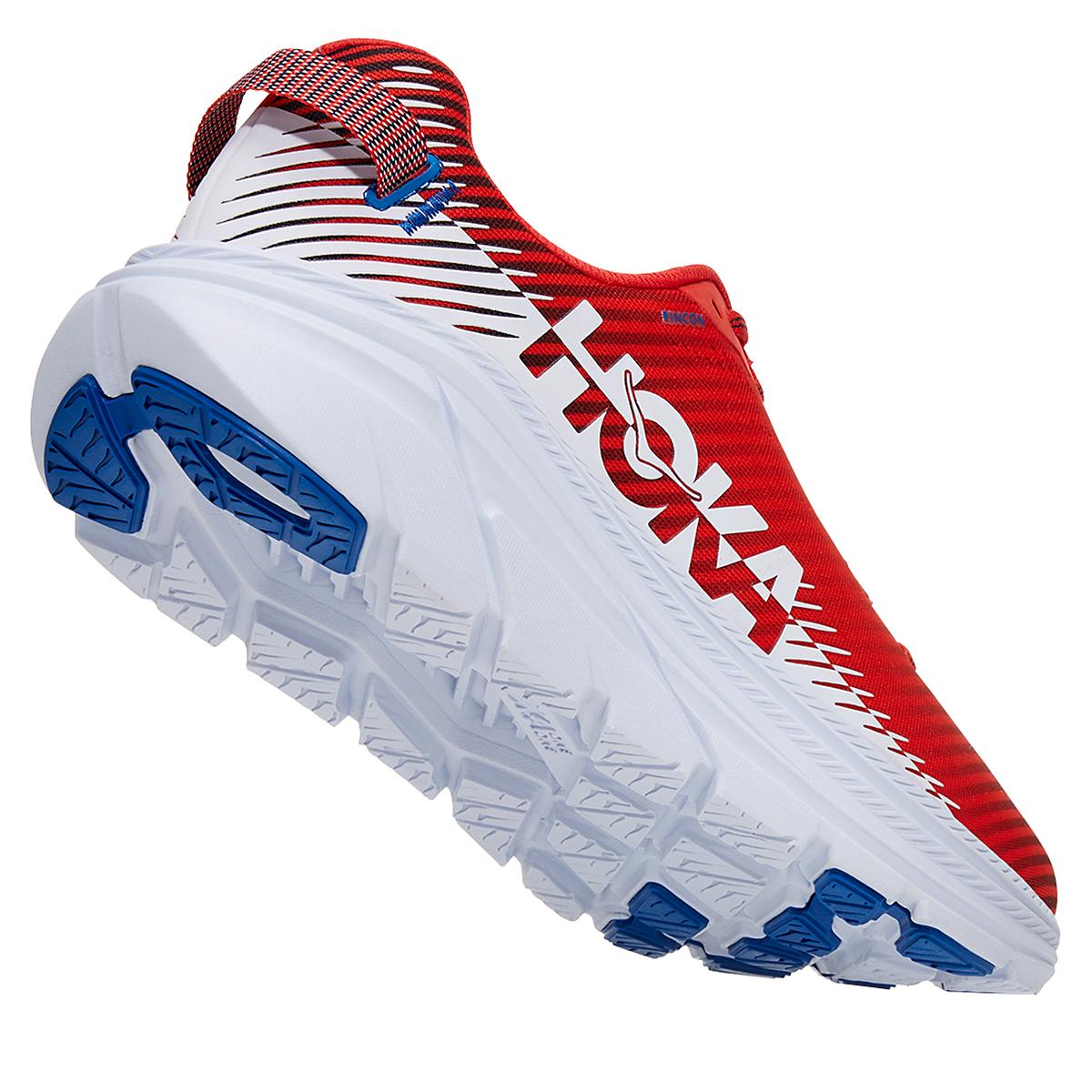 Men's Hoka One One Rincon 2 Running Shoe - Color: Fiesta/Turkish White - Size: 7 - Width: Regular, Fiesta/Turkish White, large, image 4