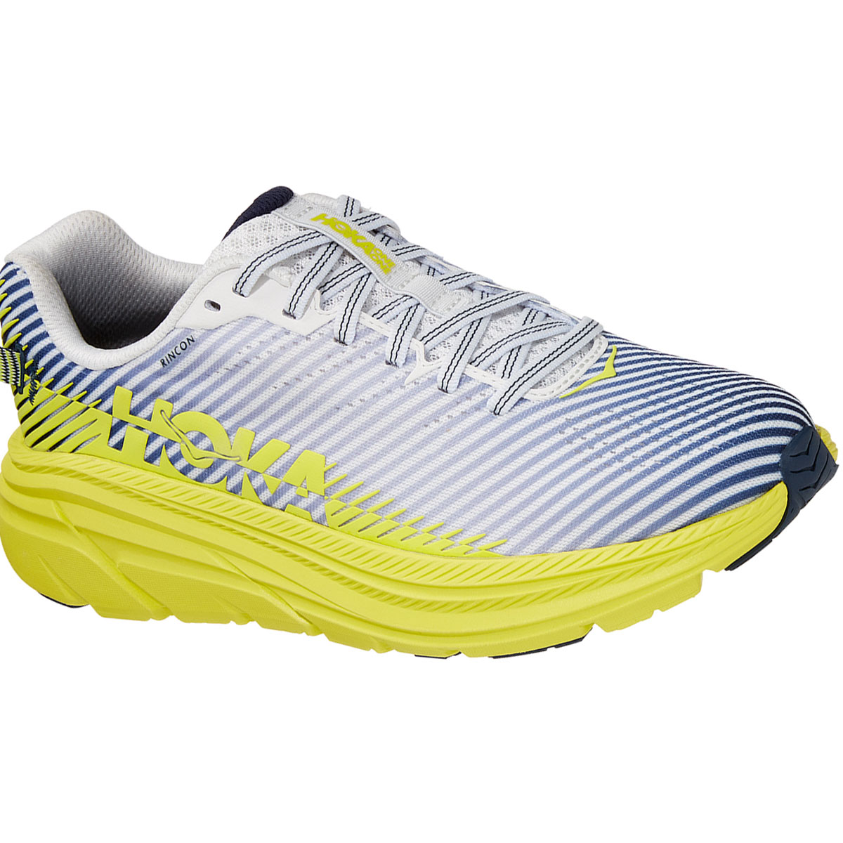 Women's Hoka One One Rincon 2 Running Shoe - Color: Blanc De Blanc - Size: 5.5 - Width: Regular, Blanc De Blanc, large, image 2