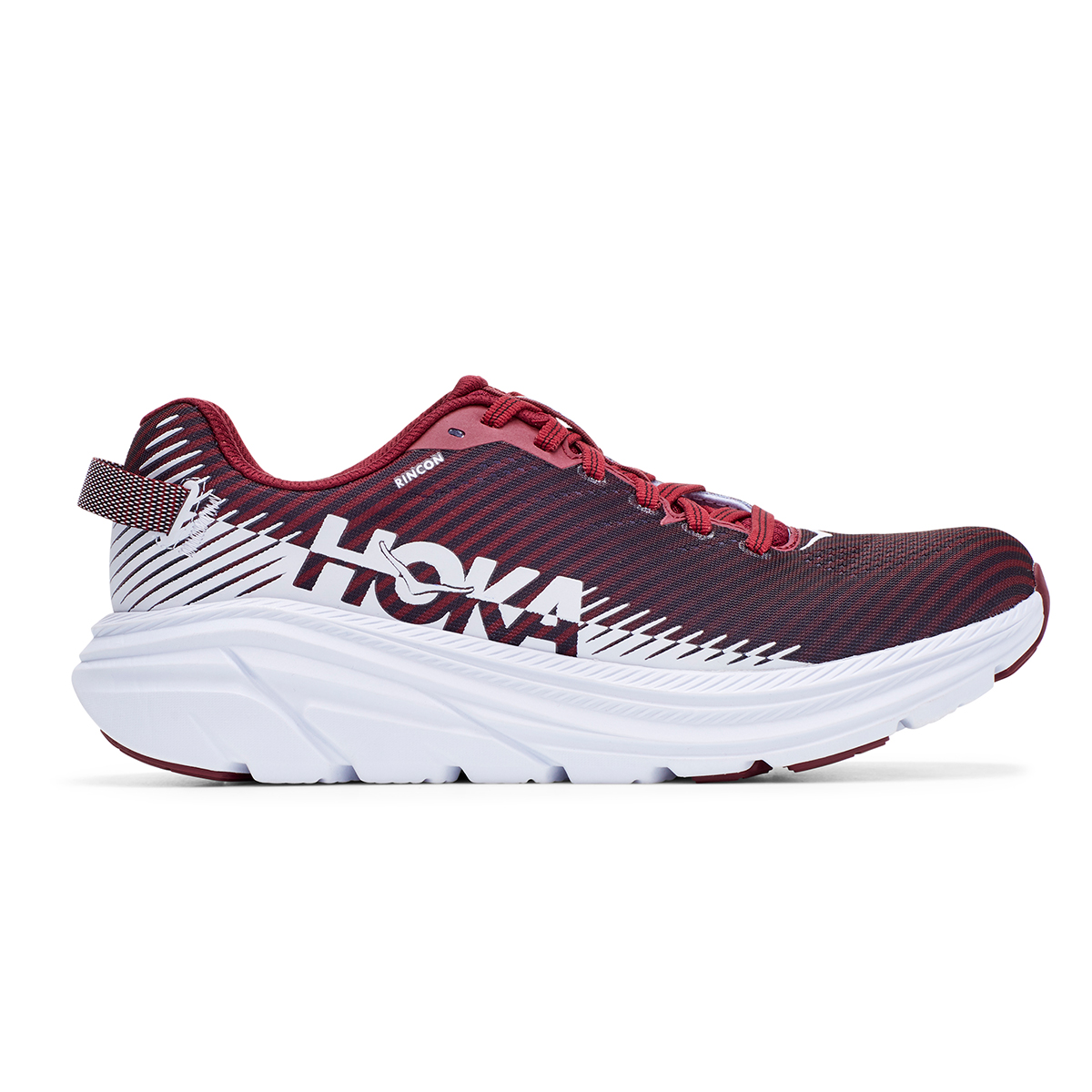 Women's Hoka One One Rincon 2 Running Shoe - Color: Cordovan/White - Size: 5 - Width: Regular, Cordovan/White, large, image 1