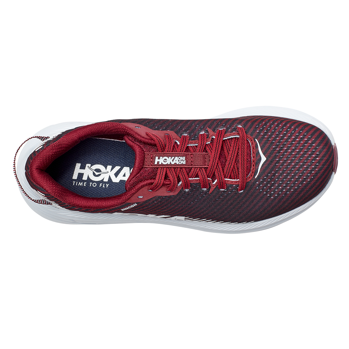 Women's Hoka One One Rincon 2 Running Shoe - Color: Cordovan/White - Size: 5 - Width: Regular, Cordovan/White, large, image 2