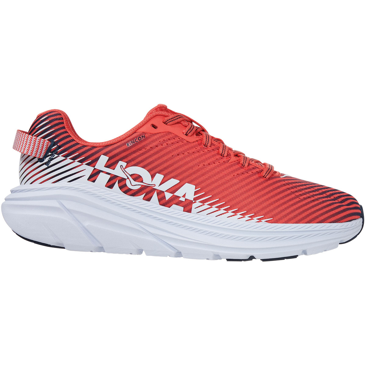 Women's Hoka One One Rincon 2 Running Shoe - Color: Hot Coral/White - Size: 5 - Width: Regular, Hot Coral/White, large, image 1