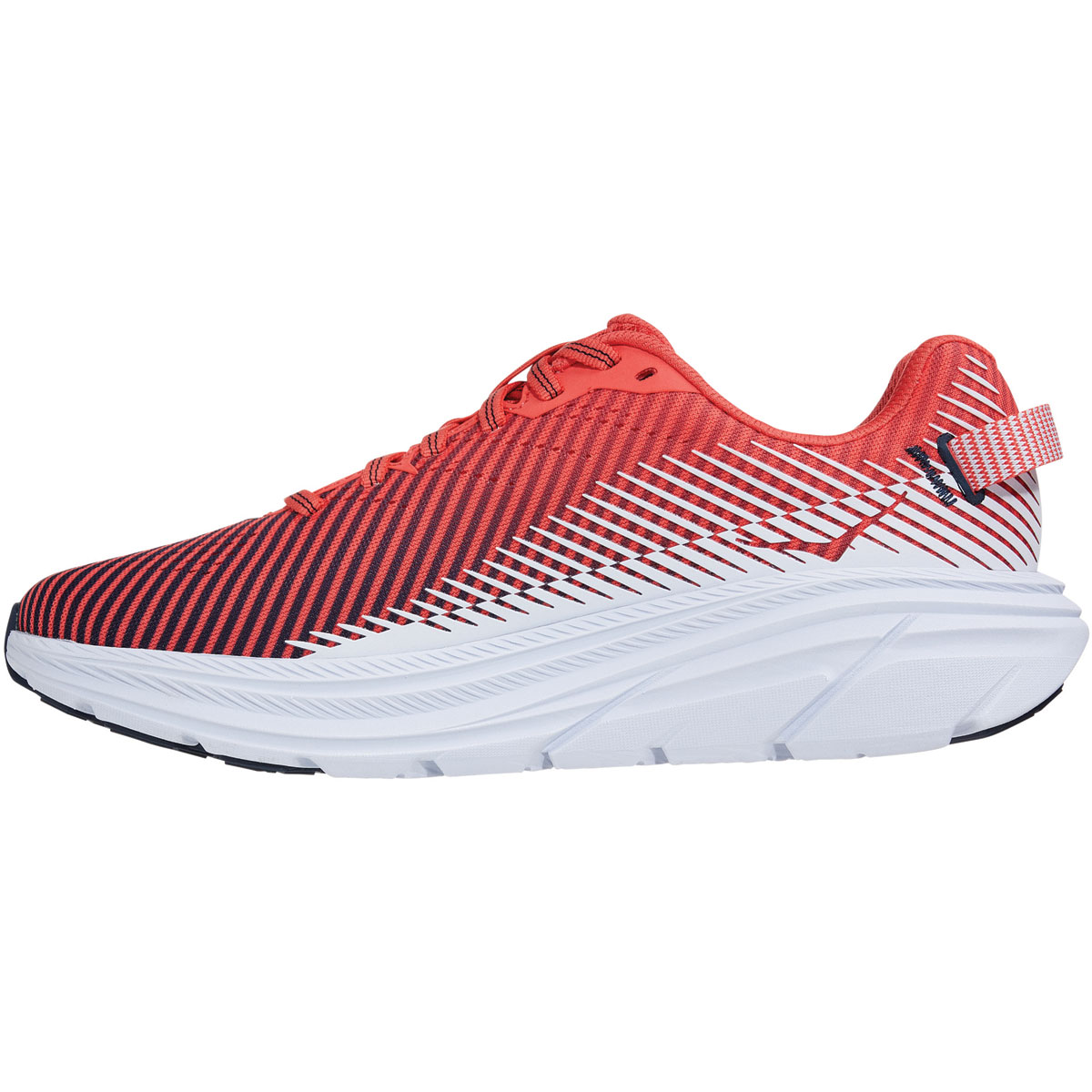 Women's Hoka One One Rincon 2 Running Shoe - Color: Hot Coral/White - Size: 5 - Width: Regular, Hot Coral/White, large, image 2