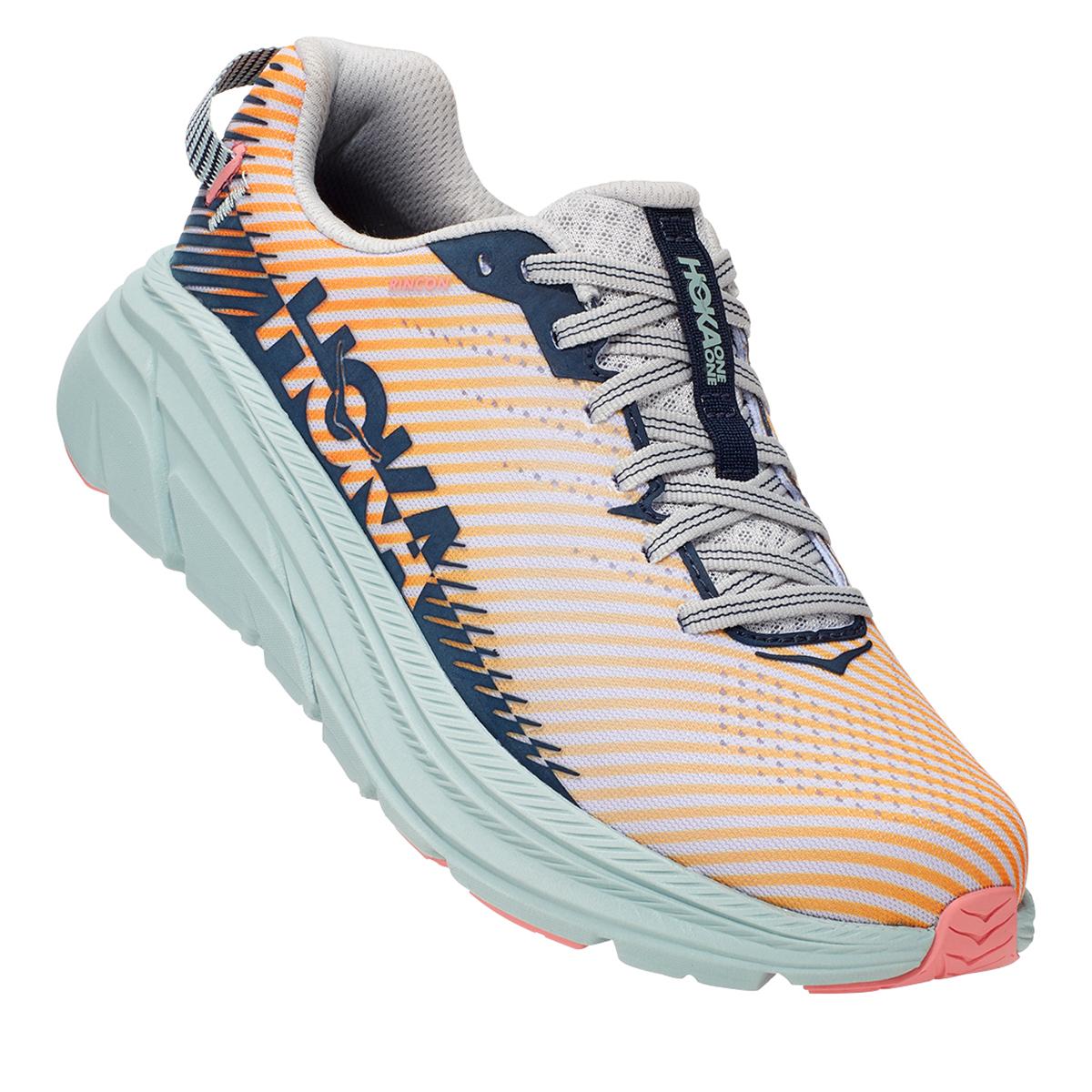 Women's Hoka One One Rincon 2 Running Shoe - Color: Lunar Rock/Black Iris - Size: 7 - Width: Regular, Lunar Rock/Black Iris, large, image 4