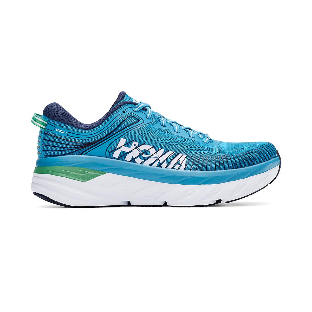 Men's Hoka One One Bondi 7 Running Shoe - Color: Blue Moon/Moonlit Ocean - Size: 7 - Width: Regular, Blue Moon/Moonlit Ocean, large, image 1