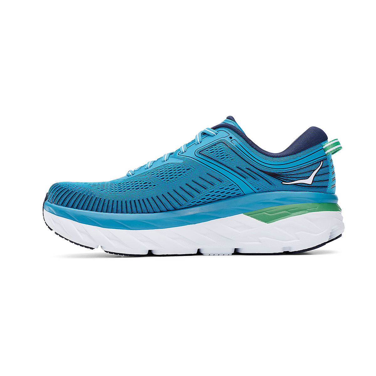 Men's Hoka One One Bondi 7 Running Shoe - Color: Blue Moon/Moonlit Ocean - Size: 7 - Width: Regular, Blue Moon/Moonlit Ocean, large, image 2