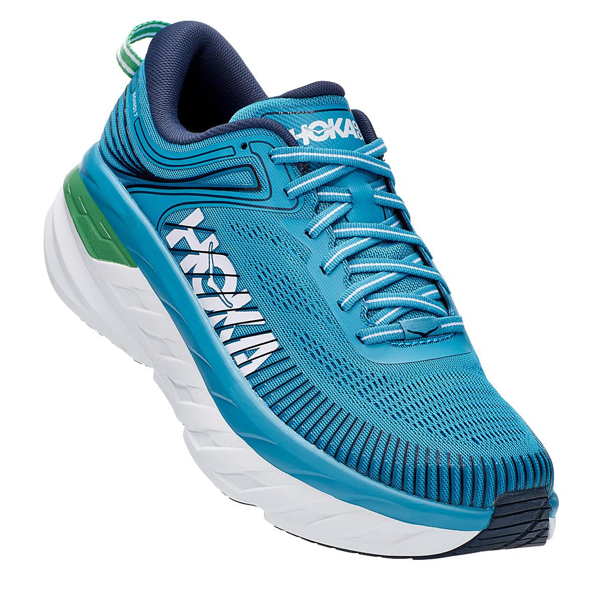 Men's Hoka One One Bondi 7 Running Shoe - Color: Blue Moon/Moonlit Ocean - Size: 7 - Width: Regular, Blue Moon/Moonlit Ocean, large, image 3