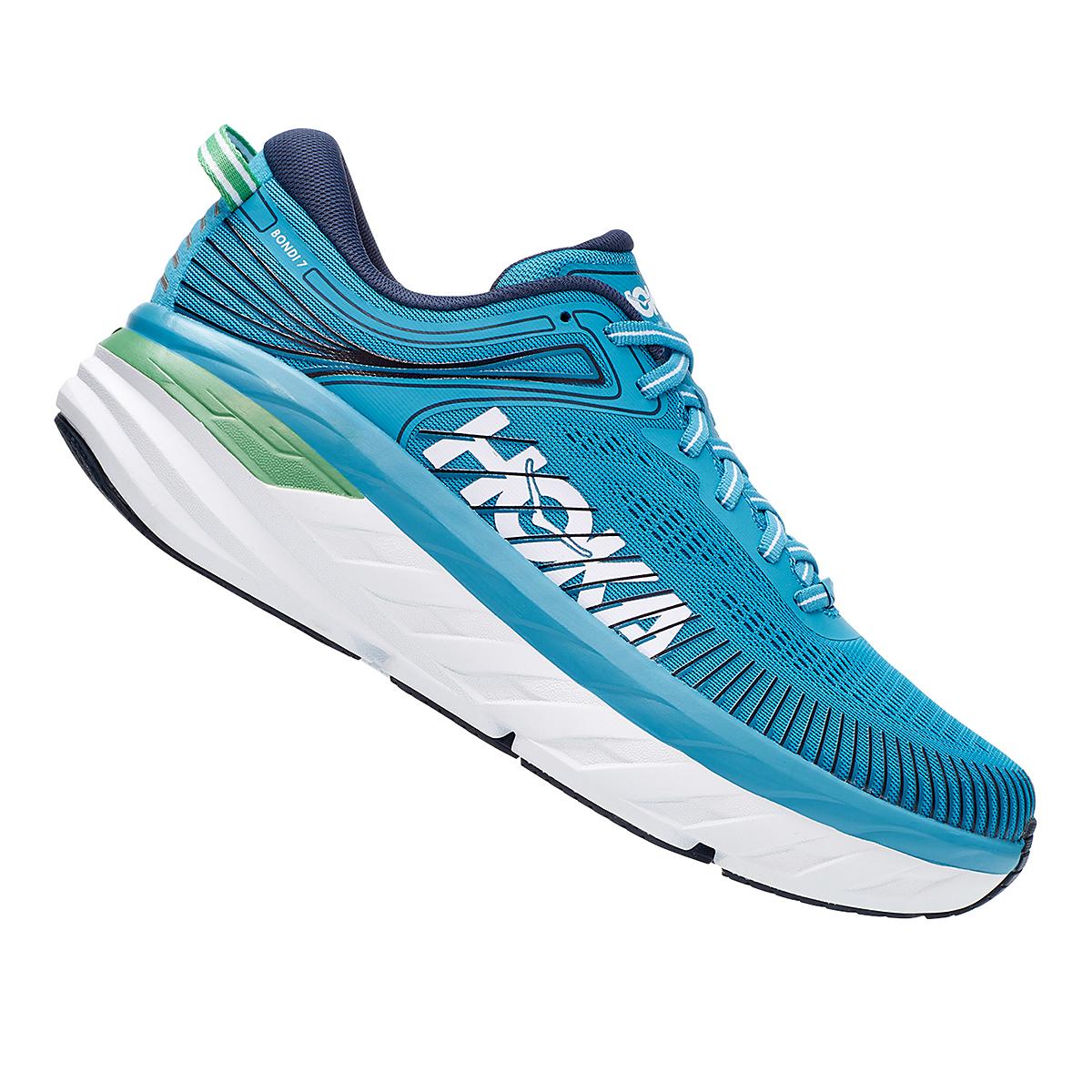 Men's Hoka One One Bondi 7 Running Shoe - Color: Blue Moon/Moonlit Ocean - Size: 7 - Width: Regular, Blue Moon/Moonlit Ocean, large, image 4