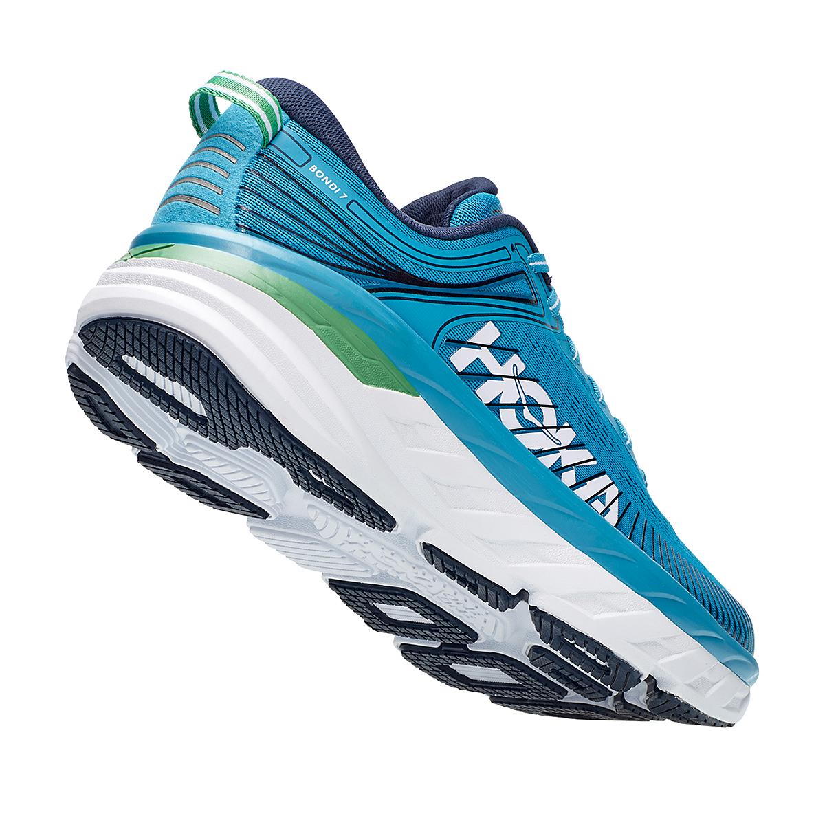 Men's Hoka One One Bondi 7 Running Shoe - Color: Blue Moon/Moonlit Ocean - Size: 7 - Width: Regular, Blue Moon/Moonlit Ocean, large, image 5
