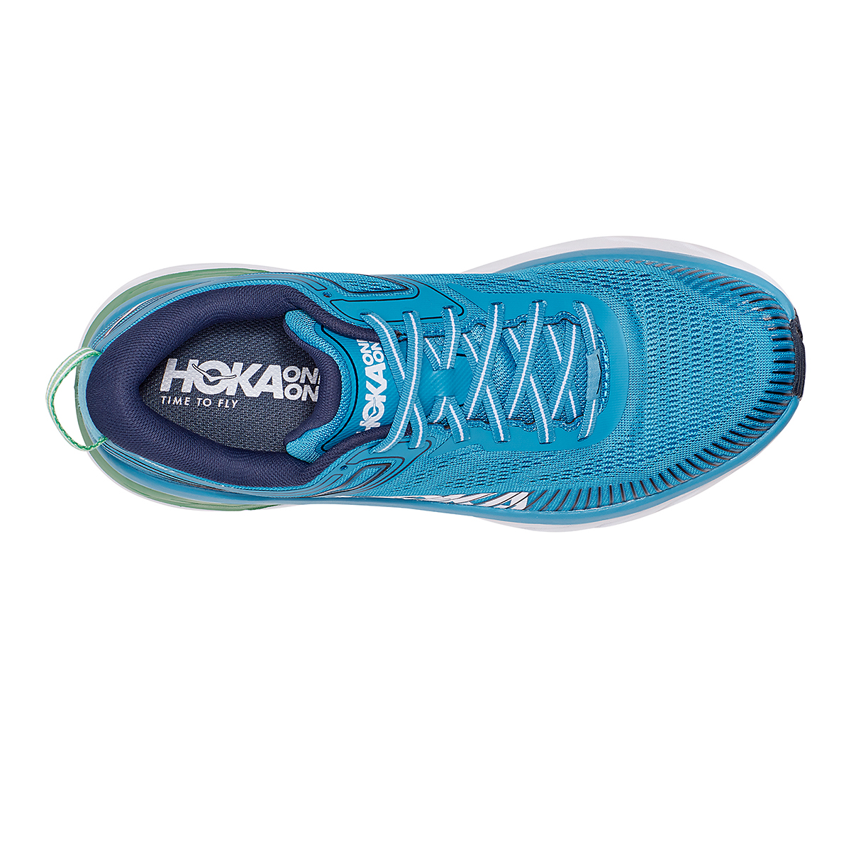 Men's Hoka One One Bondi 7 Running Shoe - Color: Blue Moon/Moonlit Ocean - Size: 7 - Width: Regular, Blue Moon/Moonlit Ocean, large, image 7