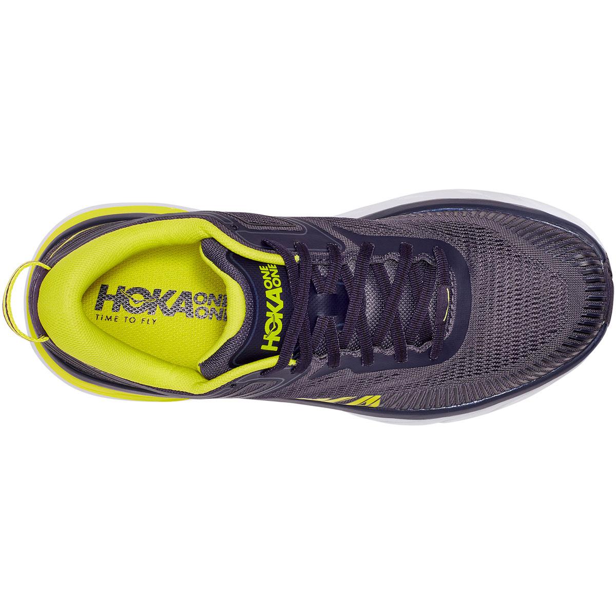 Men's Hoka One One Bondi 7 Running Shoe - Color: Odyssey Grey/Deep Well - Size: 7 - Width: Regular, Odyssey Grey/Deep Well, large, image 2