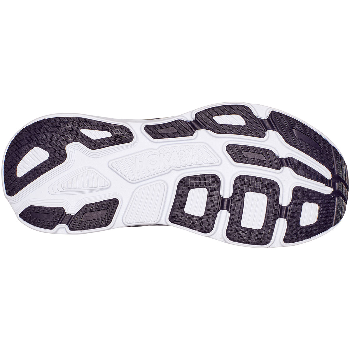 Men's Hoka One One Bondi 7 Running Shoe - Color: Odyssey Grey/Deep Well - Size: 7 - Width: Regular, Odyssey Grey/Deep Well, large, image 3