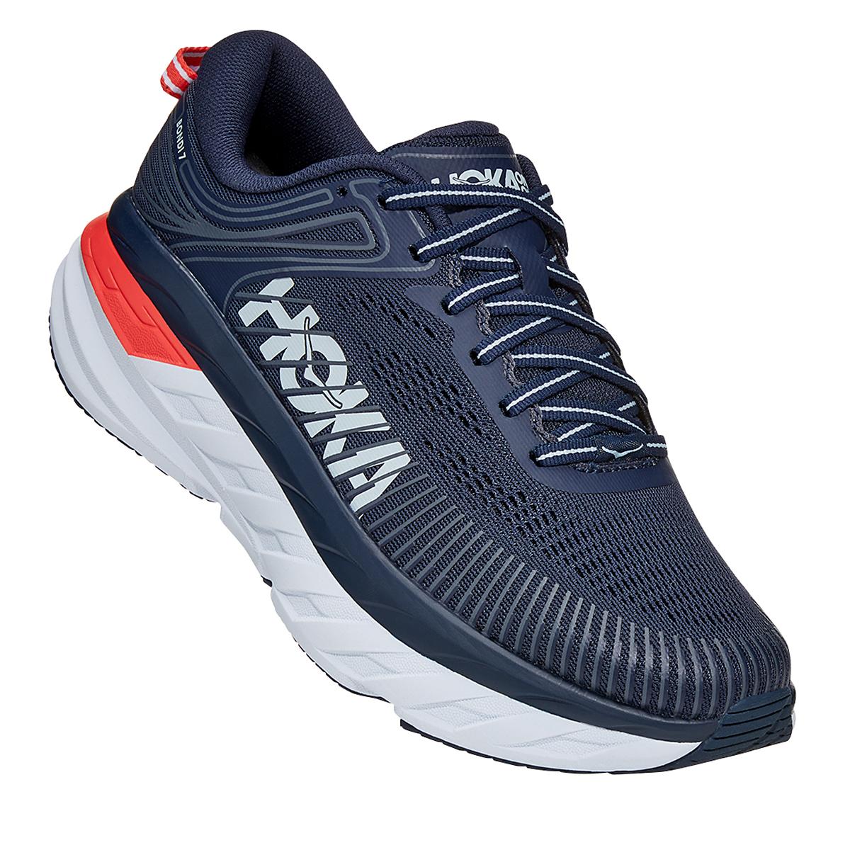Women's Hoka One One Bondi 7 Running Shoe - Color: Black Iris/Ballad Blue - Size: 6 - Width: Regular, Black Iris/Ballad Blue, large, image 2