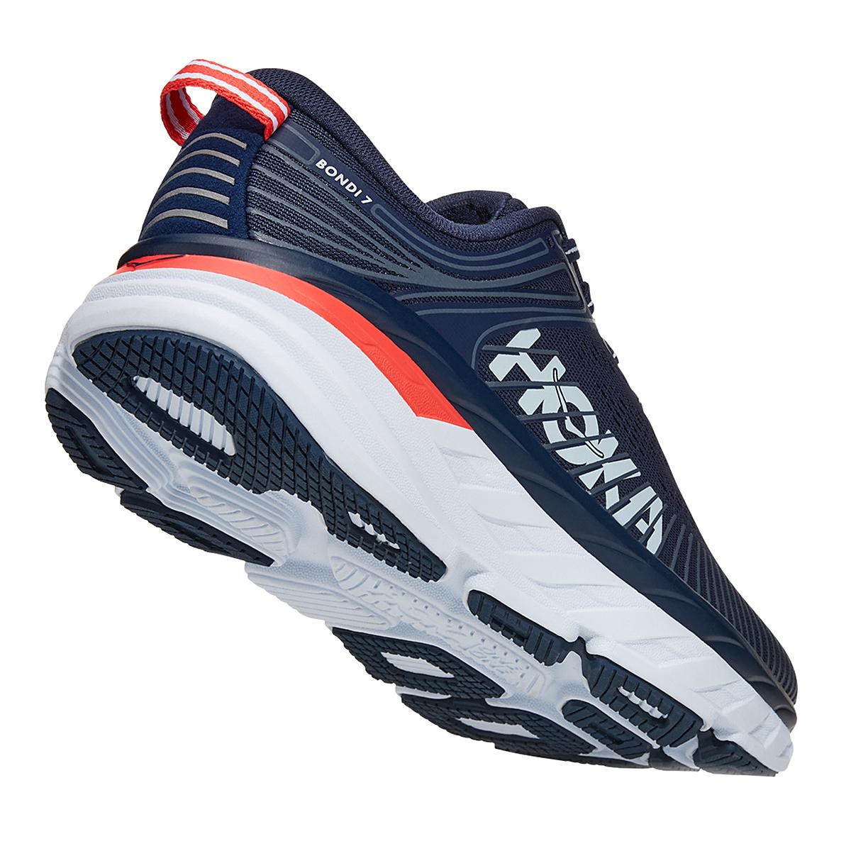 Women's Hoka One One Bondi 7 Running Shoe - Color: Black Iris/Ballad Blue - Size: 6 - Width: Regular, Black Iris/Ballad Blue, large, image 3