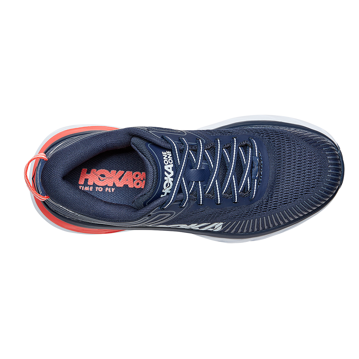 Women's Hoka One One Bondi 7 Running Shoe - Color: Black Iris/Ballad Blue - Size: 6 - Width: Regular, Black Iris/Ballad Blue, large, image 5