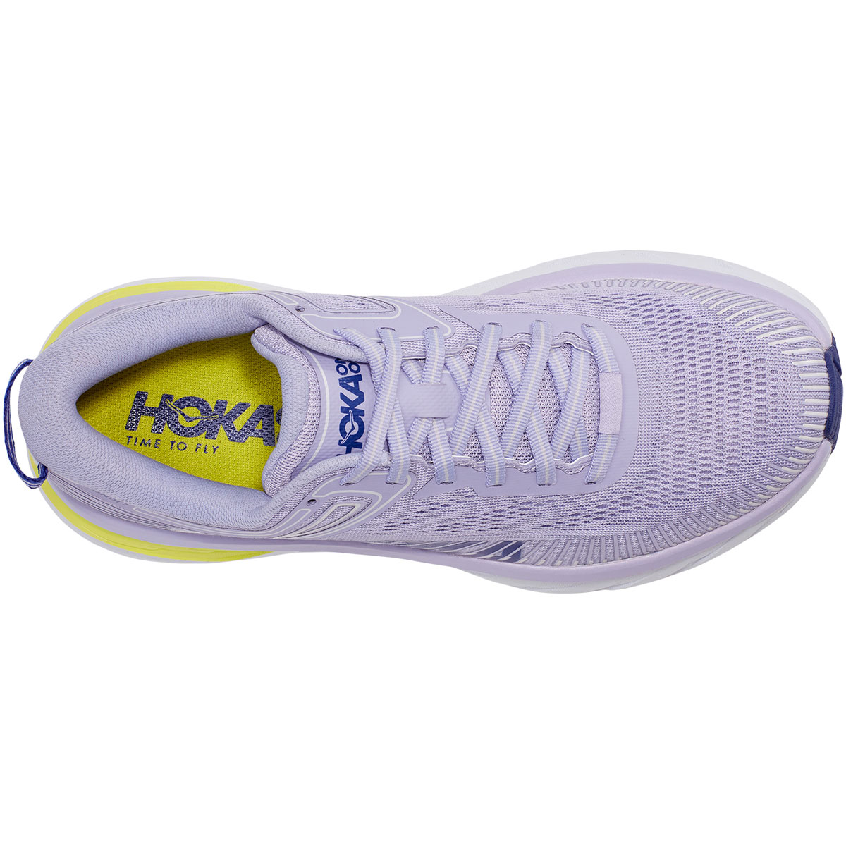 Women's Hoka One One Bondi 7 Running Shoe - Color: Purple Heather/Clematis Blue - Size: 5 - Width: Regular, Purple Heather/Clematis Blue, large, image 2