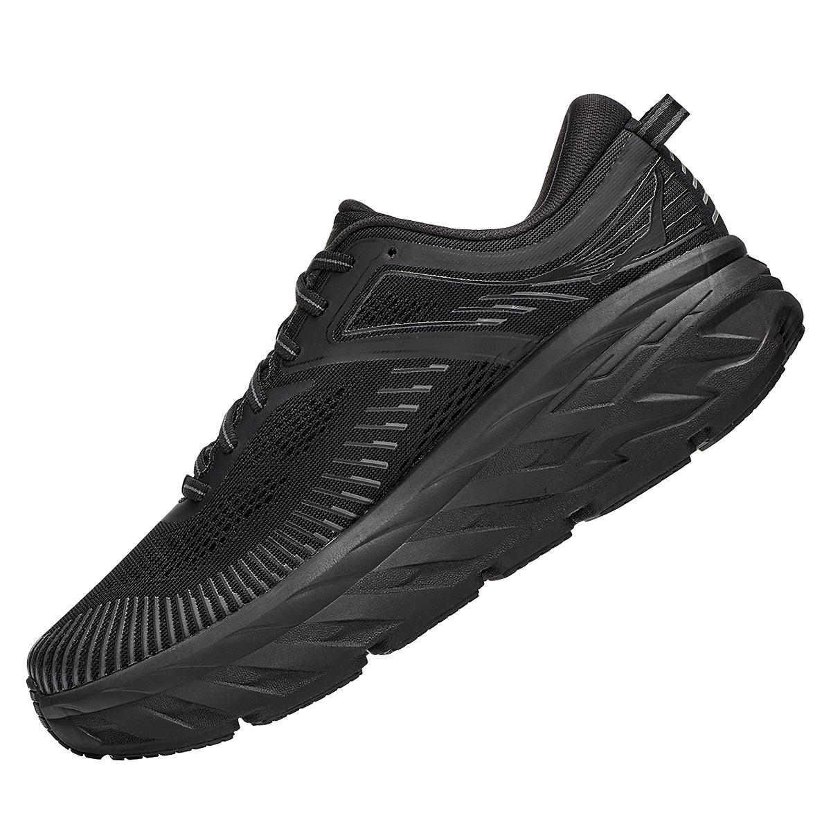 Men's Hoka One One Bondi 7 Running Shoe - Color: Black - Size: 7.5 - Width: Regular, Black, large, image 4