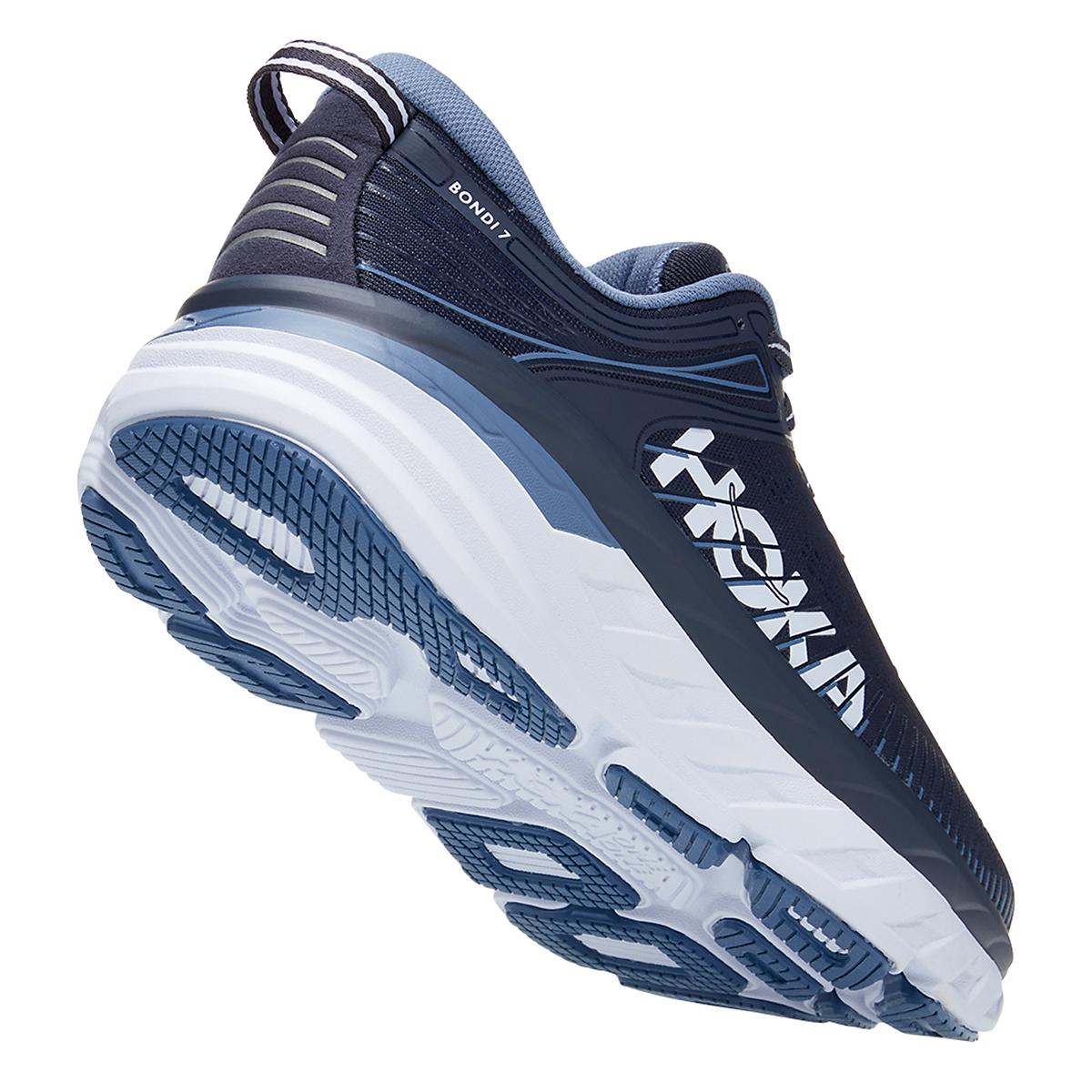 Men's Hoka One One Bondi 7 Running Shoe - Color: Ombre Blue/Provincial Blue - Size: 7 - Width: Regular, Ombre Blue/Provincial Blue, large, image 3