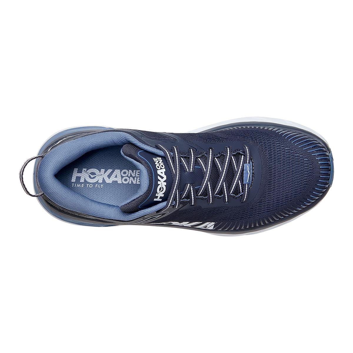 Men's Hoka One One Bondi 7 Running Shoe - Color: Ombre Blue/Provincial Blue - Size: 7 - Width: Regular, Ombre Blue/Provincial Blue, large, image 5