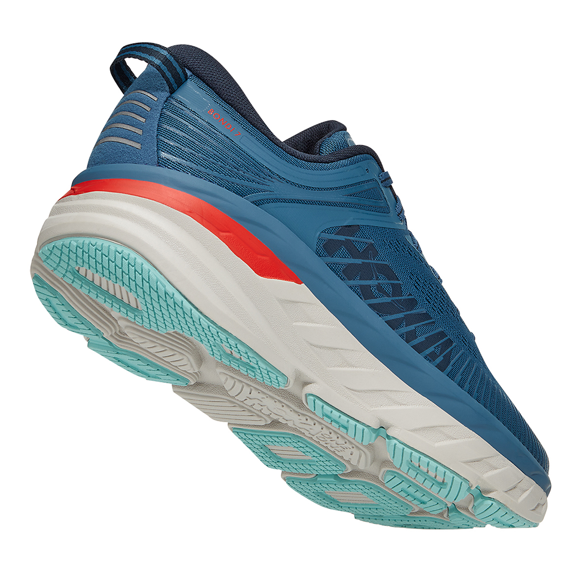 Men's Hoka One One Bondi 7 Running Shoe - Color: Real Teal/Outer Space - Size: 7 - Width: Regular, Real Teal/Outer Space, large, image 4