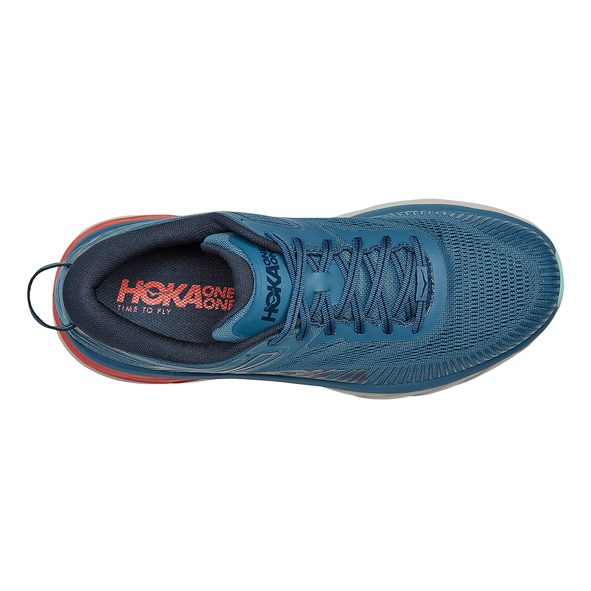 Men's Hoka One One Bondi 7 Running Shoe - Color: Real Teal/Outer Space - Size: 7 - Width: Regular, Real Teal/Outer Space, large, image 5