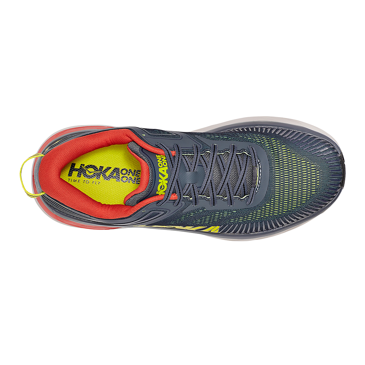 Men's Hoka One One Bondi 7 Running Shoe - Color: Turbulence/Chili - Size: 8 - Width: Regular, Turbulence/Chili, large, image 7
