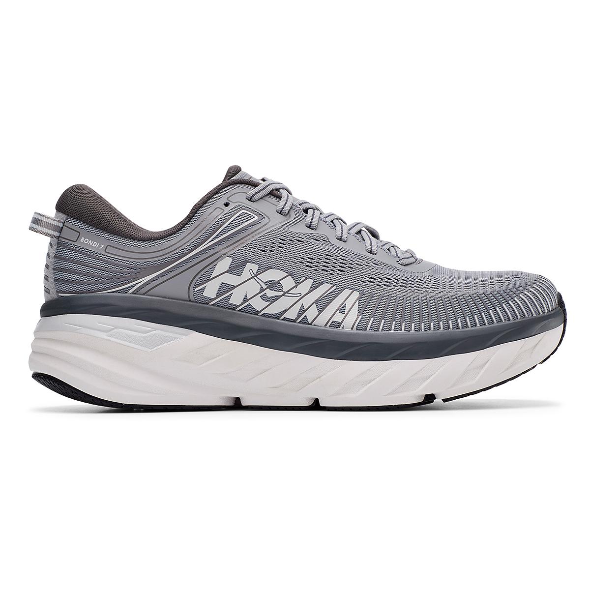 Men's Hoka One One Bondi 7 Running Shoe - Color: Wild Dove/Dark Shadow - Size: 7 - Width: Regular, Wild Dove/Dark Shadow, large, image 1