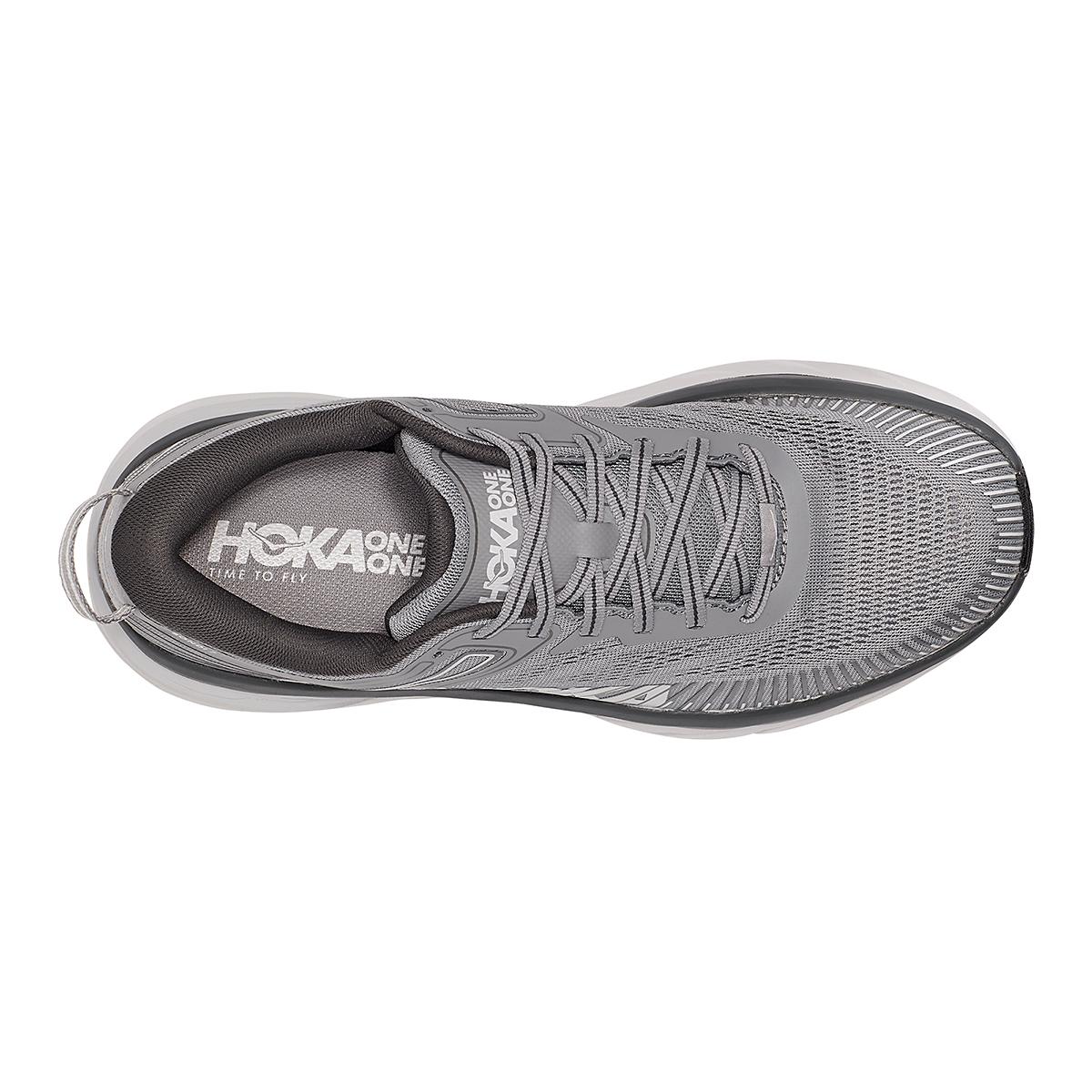 Men's Hoka One One Bondi 7 Running Shoe - Color: Wild Dove/Dark Shadow - Size: 7 - Width: Regular, Wild Dove/Dark Shadow, large, image 5