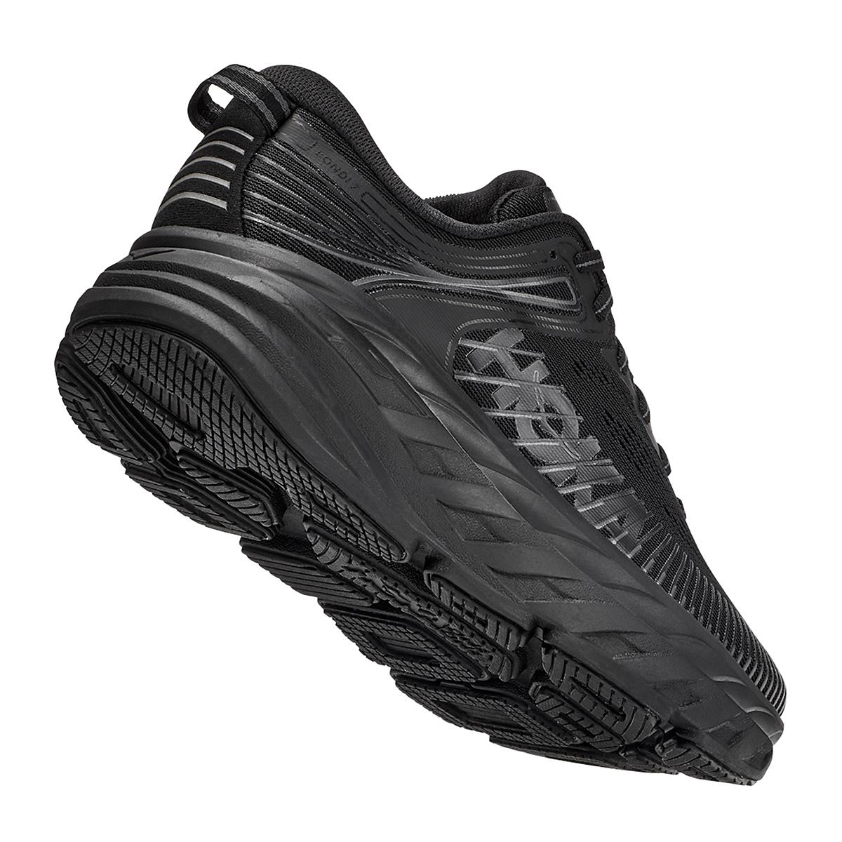 Women's Hoka One One Bondi 7 Running Shoe - Color: Black - Size: 5 - Width: Regular, Black, large, image 3