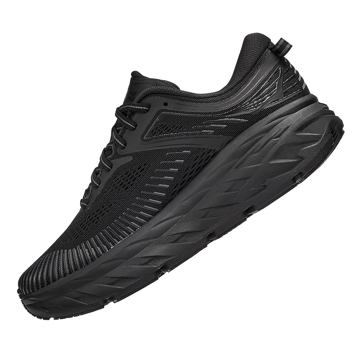 Women's Hoka One One Bondi 7 Running Shoe - Color: Black - Size: 5 - Width: Regular, Black, large, image 4