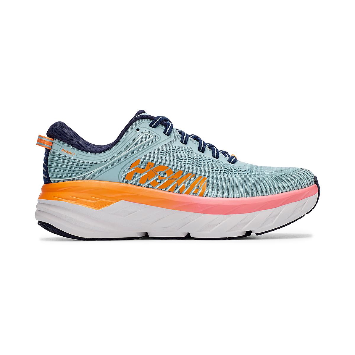 Women's Hoka One One Bondi 7 Running Shoe - Color: Blue Haze/Black Iris - Size: 5.5 - Width: Regular, Blue Haze/Black Iris, large, image 1