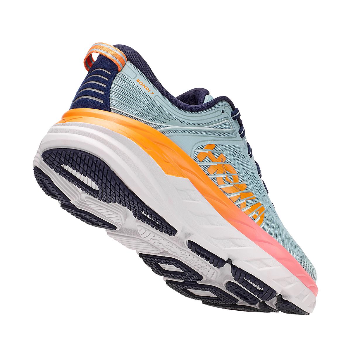 Women's Hoka One One Bondi 7 Running Shoe - Color: Blue Haze/Black Iris - Size: 5.5 - Width: Regular, Blue Haze/Black Iris, large, image 5