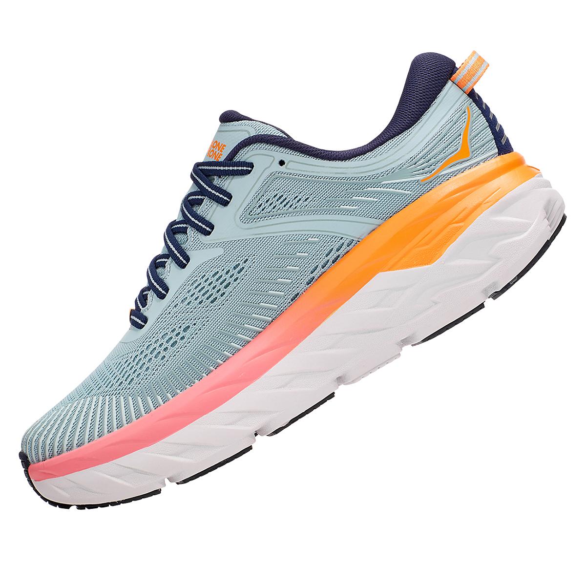 Women's Hoka One One Bondi 7 Running Shoe - Color: Blue Haze/Black Iris - Size: 5.5 - Width: Regular, Blue Haze/Black Iris, large, image 6