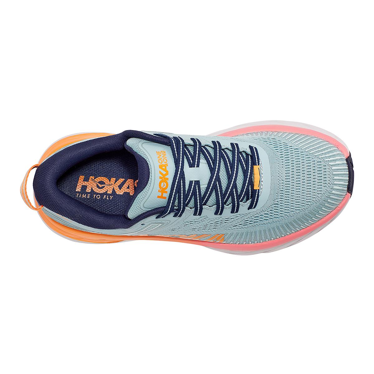 Women's Hoka One One Bondi 7 Running Shoe - Color: Blue Haze/Black Iris - Size: 5.5 - Width: Regular, Blue Haze/Black Iris, large, image 7