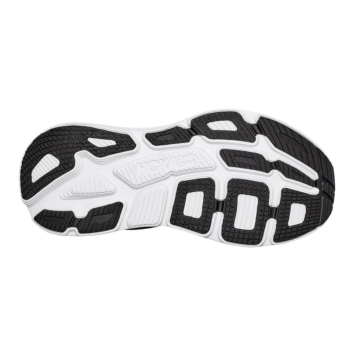 Women's Hoka One One Bondi 7 Running Shoe - Color: Black/White - Size: 5 - Width: Regular, Black/White, large, image 6