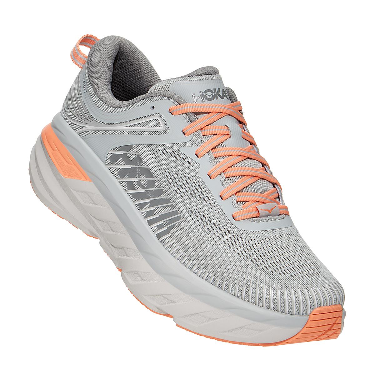 Women's Hoka One One Bondi 7 Running Shoe - Color: Harbor Mist/Sharkskin - Size: 5 - Width: Regular, Harbor Mist/Sharkskin, large, image 1